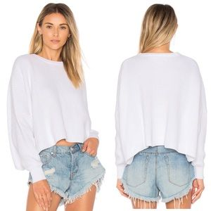 NWT Free People Festival Pier White Pullover